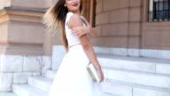 Beautiful young fashion model video
