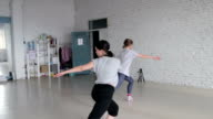 Beautiful young Girls learn the new dance video