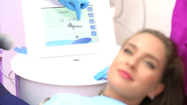Beautiful young woman getting oxygen therapy video