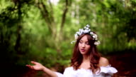 Beautiful young woman in nature. video