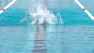 HD: Beautiful Young Woman Swimming Butterfly video