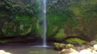 beautifull Tomohon Selatan waterfall in Sulawes video