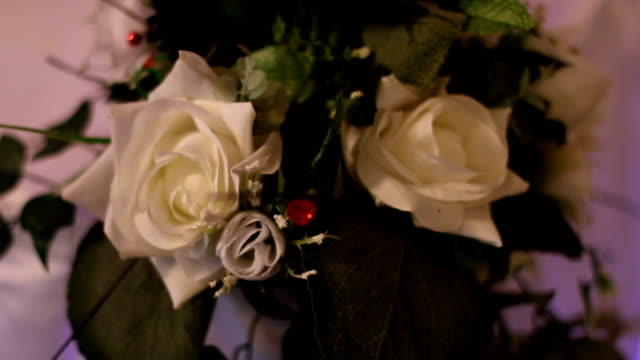 Beautifully decorated table with flowers video
