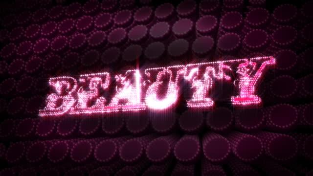 Beauty - Glitter Sparkle Text video
