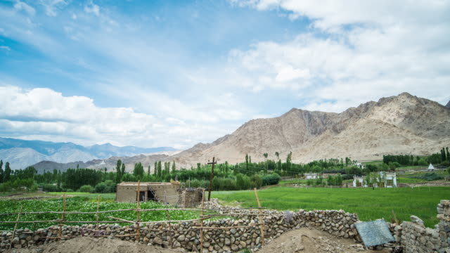 Beauty In Nature At Leh Village, Ladakh, India video