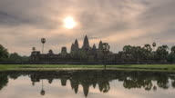 Beauty of sunrise over Angkor Wat video