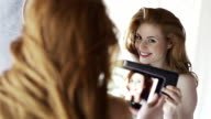 Beauty tablet mirror video