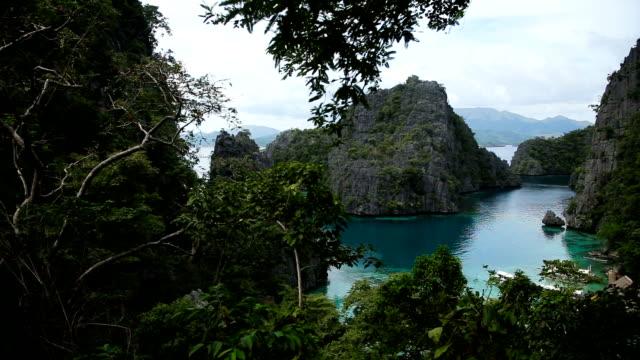 beautyful lagoon in the islands, Philippines video