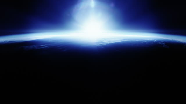 Beautyfull blue sunrise from space video