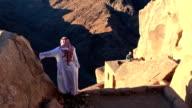 Bedouin on Mount Sinai in Egypt video