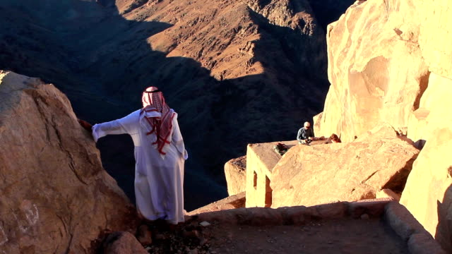 Bedouin on Mount Sinai in Egypt video