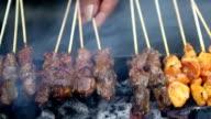 Beef Chicken Satay Skewers video