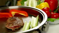 Beef Steak Grilled With Vegetables video