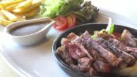 Beef steak video