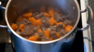beef stew boiling video