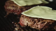 TIME-LAPSE: Beefsteak with cheese fry on a grill video