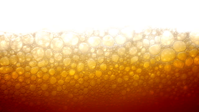 Beer into a glass video