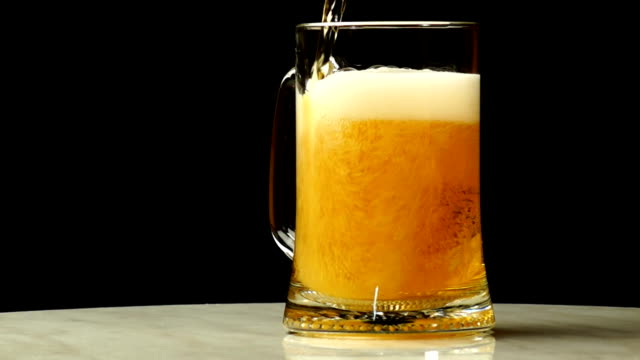 Beer is Poured into a Glass video