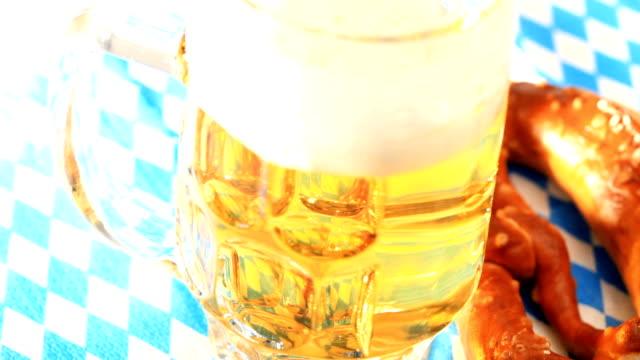 Beer mug and pretzel video
