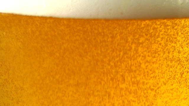 Beer poured into glass video