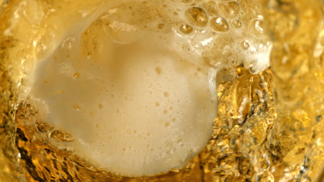 Beer pouring - close up video