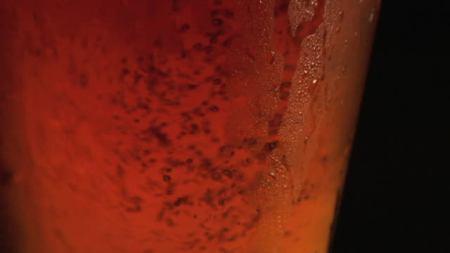 beer pouring close-up video
