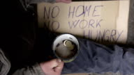 HD SLOW-MOTION: Beggar Shaking His Cup Of Change video