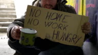 HD DOLLY: Beggar Shaking His Cup video
