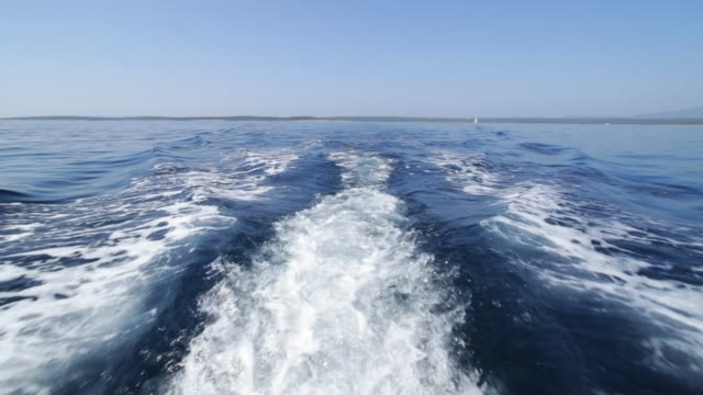 Behind a motor boat. video