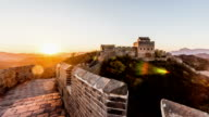 Beijing, China-Oct 26,2014: The beauty of Jinshanling Great Wall at sunset, Beijing, China video
