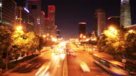 Beijing night traffic video