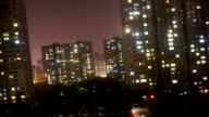 Beijing Pingguo apartments timelapse at night video