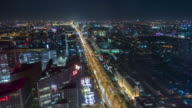 T/L WS HA Beijing Urban Skyline and Chang'An Avenue / Beijing, China video