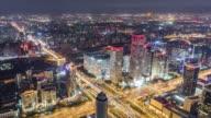 T/L WS HA TD Beijing Urban Skyline at Night / Beijing, China video