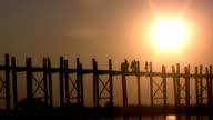 U Bein Bridge, Mandalay, Myanmar video