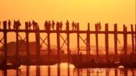 U Bein Bridge Sunset video