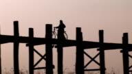 U Bein's Wood Bridge, Mandalay HDV217 video