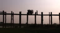 U Bein's Wood Bridge, Mandalay video