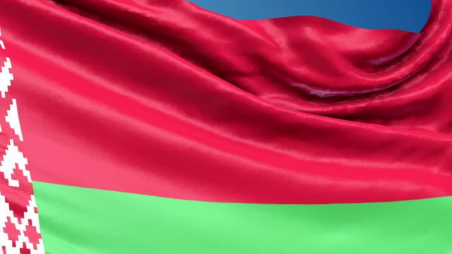 Belarus Flag Waving. 3d render seamless loop video