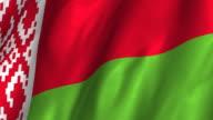 Belarus Flag - waving, looping video