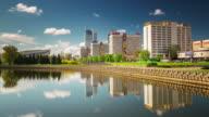 belarus minsk nemiga sunny day winners avenue 4k time lapse video