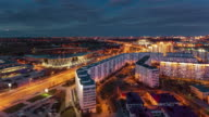 belarus minsk sunset modern hotel and sport palace roof panorama 4k time lapse video