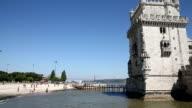 VDO : Belem Tower is landmark in Lisbon, Portugal. video