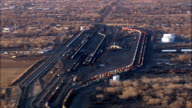 Belen Freight Yard  - Aerial View - New Mexico,  Valencia County,  United States video
