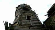 belfry in the old destroyed wooden church video