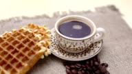 Belgian waffles and coffee video