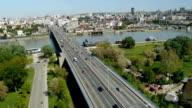Belgrade city aerial view video
