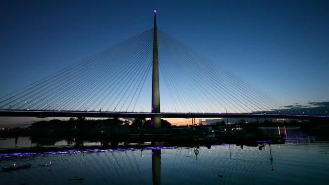 Belgrade, Serbia: New Bridge on Sava river video