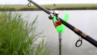 Bell on the fishing rod. video
