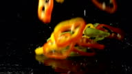 Bell Pepper Slices Splashing video